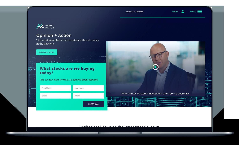finance-website-design-overview
