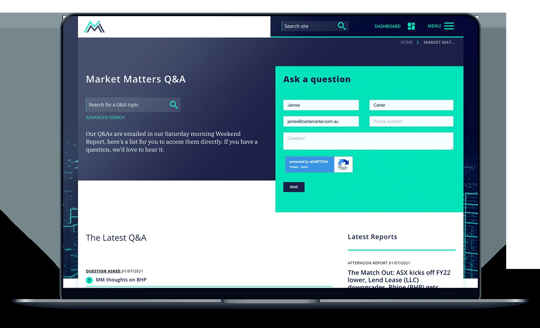 finance-website-design-qanda